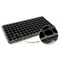 Almacigueras 105 cavidades de plástico negra