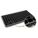 Almacigueras 128 cavidades de plástico negra